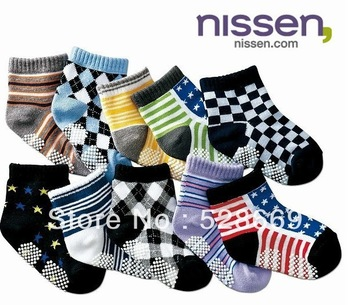 2014 New Free Shipping New Pure Cotton Children Socks Antiskid Child Socks Baby Floor Socks 10 Pair/lot Free Shipping SB6658