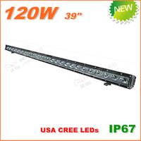 Free Shipping New 120W CREE LED Work Light  Bar 12V 24V IP67 Flood Spot beam For 4WD 4x4 Off road Light Bars TRUCK BOAT TRAIN