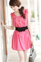 Strap women's cummerbund wide belt flower cronyism all-match fashion lace elastic waist belt