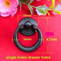 Vintage handle furnitrue puller cabinet drawer single hole zinc alloy black handle 19.2g