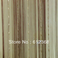 "6 Colors New ""Dew Drop"" Beaded Fly Insect Panel Room Divider Hanging String Door Curtain Strip Tasse Screen-Brown"