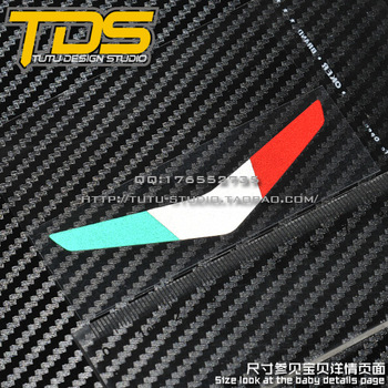 Tds car stickers vespa - flag standard front reflective stickers car stickers applique