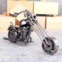 Metal craft motorcycle Small home office decoration gift modern brief