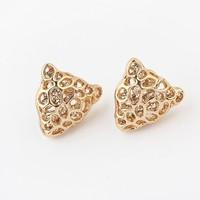 Min.order is $15(mix order) Factory price,nice jewelry, Newest Crystal jewelry,Popular leopard head diamond earrings