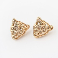 Min.order is $15(mix order) Factory price,nice jewelry, Newest Crystal jewelry,Popular leopard head diamond earrings