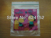 Customized of  Recyclable packing plastic bags ziplock bags colorful figure printing Negotiated final price