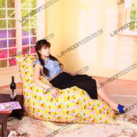 FREE SHIPPING 140*180CM bean bags  100% cotton canvas bean bag chairs fabric bean bag furniture yellow color the bean bag