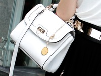 2014 New Modern Lock Style Tote Bag Simple Lady Shoulder Bag Womens Cross Body Bag