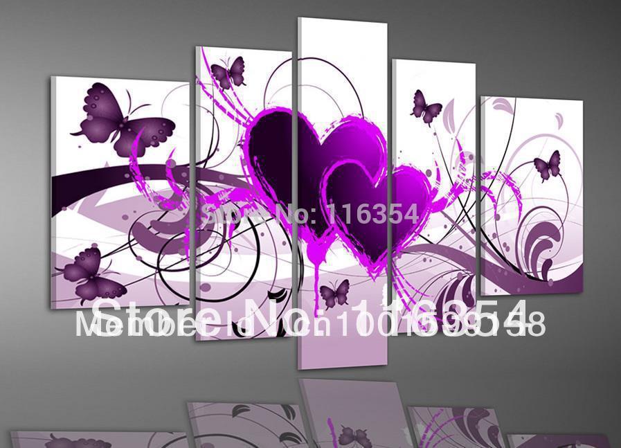 bathroom wall art purple and white bathroom decor - Purple Home Decor