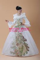 2013 winter wedding dress long-sleeve cotton-padded bride wedding thermal princess wedding dress