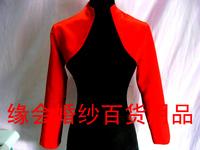 Cheongsam cape bride thin cape satin cape long-sleeve outerwear cape long-sleeve vest