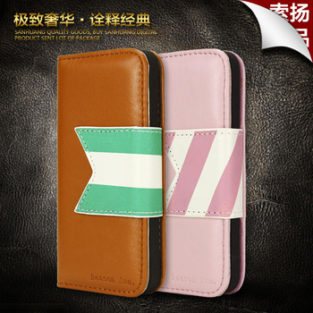 For iphone  5 mobile phone case protective case leather iphone5 holsteins shell  for apple   5 phone case