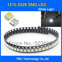 Free Shipping 200pcs/lot 1210 3528 SMD LED Ultra Bright White Light Diode Wholesale
