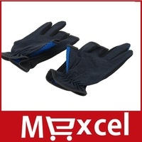 Extra Large Non-slip & Fishnet Design 3 Low Cut Glove Fingers Fishing Gloves (Blue) wholesale