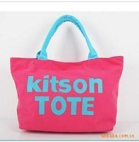 2013 New style kitson letters women handbag fashion shoulder bag  tote bag casual canvas big bag