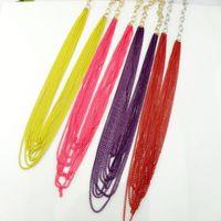 Accessories fashion exquisite re-color paint color block multi-layer necklace long necklace 0081