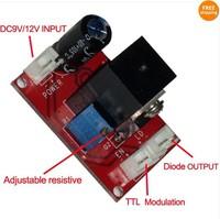 New Laser Diode laser module Driver for (100mW-2W) 445/450nm blue laser+ TTL