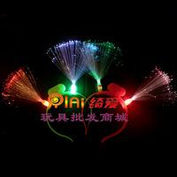 Colorful fiber optic hair bands flash light hairpin mantianxing hair bands light hairpin props