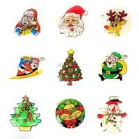 Christmas brooch snowman brooch led badge christmas decoration supplies
