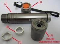 Waterproof standard laser accessories/laser pointer host/for 532mm green laser