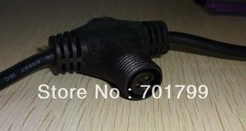 3 core T type waterproof splitter;BLACK color;the male connect's diameter;13.5mm