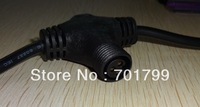 3 core T type waterproof splitter;BLACK color;the male connect's diameter;13.5mm