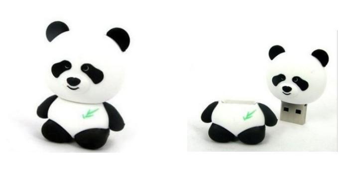 Free shipping New 10pcs/lot real 2gb 4gb 8gb 16gb cartoon cute panda usb memory stick thumb pen drive(China (Mainland))