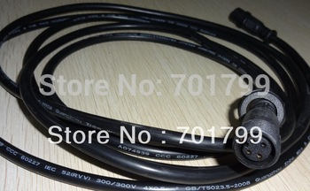 BLACK 3m(10feet) 4 core waterproof extension cable,one end with male,the other end with female,male connector's diameter:13.5mm