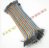 "Free Shopping 2lotx40pin male with female DuPont Wire Cable Line 1P-1P Connector 20cm 7.87"" for lab test breadboard"