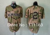 Wholesale Men's Baseball Jerseys Derek Jeter #2  Camo Coolbase Jersey size:48~56+Free Shipping