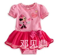 Free shipping 2013 Summer Children's Clothing Wholesale Girl Baby Rompers Cute Mickey Jumpsuit 80-100 3 pcs/lot