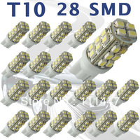 Free Shipping 10X T10 28smd 1210  LED Bulb 1210 SMD168 194 501 W5W White Car Side led Wedge Light bulb lamp