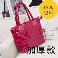 2013 women's handbag space bag women's handbag down bag sponge bag cotton-padded jacket bag cotton-padded jacket bags