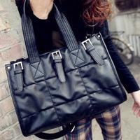 2012 women's handbag black fashion casual bag vintage shoulder bag messenger bag large bag handbag