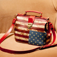 2013 women's handbag fashion all-match vintage american flag doctors bag bags handbag cross-body bag female
