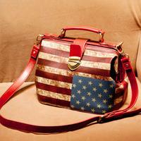 2013 women's handbag fashion all-match vintage american flag doctors bag bags handbag cross-body bag female