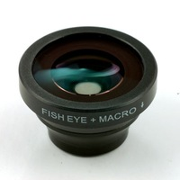 1 pcs,Fish eye + Macro 2 in 1 lens Detachable maganetic Lens with adsorption for iPhone 4 5 MIUI Mobile Phone