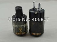 Brand new Oyaide P004E +C004 Rhodium plated EUR schuko AC power plug C004 IEC power connector 1pair