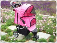 2013 pet stroller dog cart dog car saidsgroupsdirector daily necessities Pink