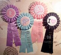 2014 new Katie HARAJUKU amo letter laciness soft ribbon medal badge lolita