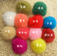 Cell phone accessories rabbit fur ball cell phone hangings fur ball key chain mobile phone chain mobile phone rope