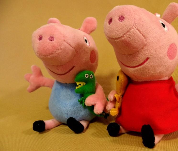Peppa Pig Мягкая игрушка Пеппа с сердечком, 30 см