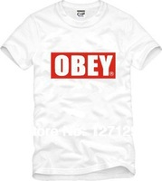 cheap OBEY skateboard street bboy hip hop short-sleeve T-shirt Men Women lovers all colors and size S to size XXXL
