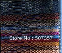 Wholesale semi-PU Serpentine leather fabric / fabric sofa leather handbags / Skin color 10085