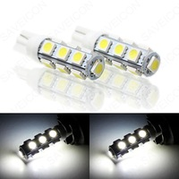 Free Shipping 10pcs/lot T10 13smd 5050  W5W 168 194 5050 SMD White Light Bulbs Car led light bulb
