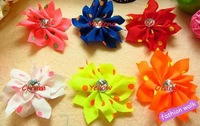 Free shipping! 30pcs 6color Accessories Flower Baby Flower Head No Hairpin Hairclip Headwear Baby Girl's Accessories