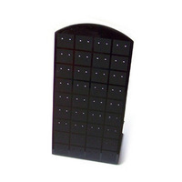 Free Shipping Black and white plastic plate stud earring display boards earring jewelry holder stand
