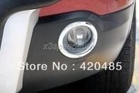 Front+Rear Fog light Chrome Cover Trim Fit For 07-12 Nissan Qashqai Dualis 2007 2008 2009 2010 2011 2012