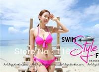 Bikini 2012 for woman Sexy dazzling neon color small steel push up swimwear big bikini hot swimsuit new brand trend to summer