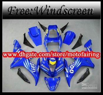 motofairing -Fairing kit for YZFR1 02 03 YZF R1 2002 2003 YZFR1 2002 03 ABS Plastic +free windscreen